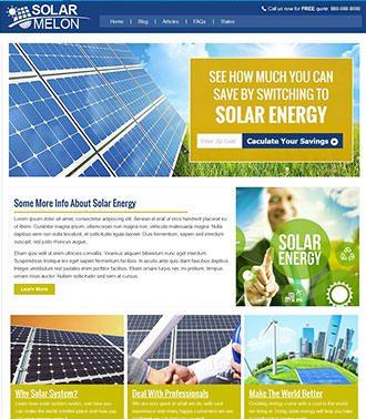אתר תדמית לפתרונות סולאריים לבית
