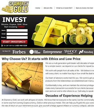 בניית אתר תדמיתי בנושא השקעות זהב